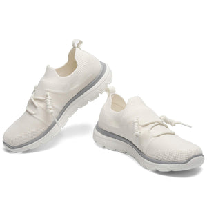 Fashion Casual Sneakers for Womens Flyknit Lace Up for Walking Running - Golaiman
