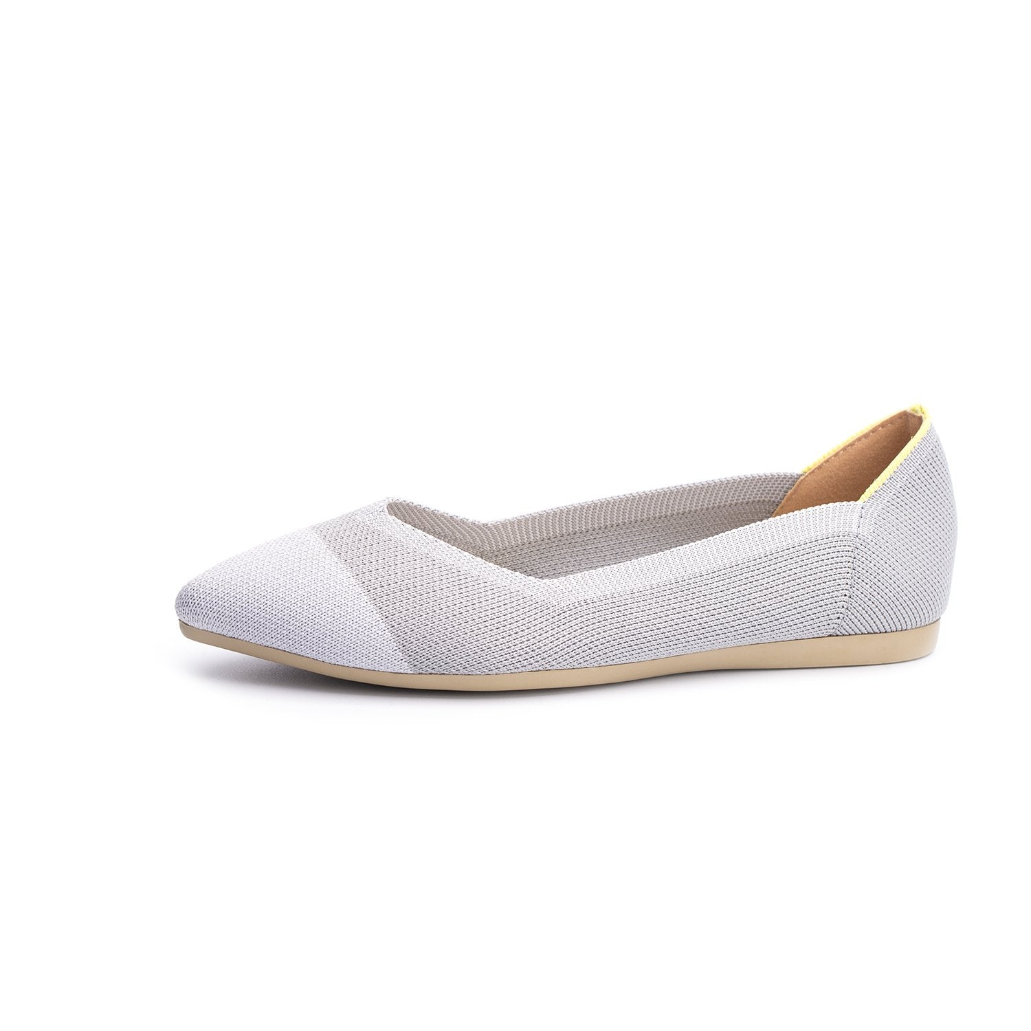 Womens Flats Shoes Pointed Toe Lightweight Mesh Slip-On Fashion
