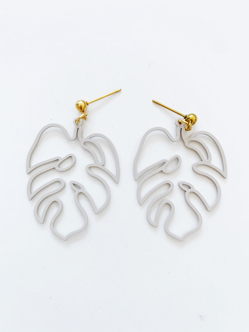 Boucles d'oreilles Jungle fever/ beige