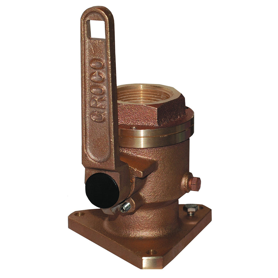 "GROCO 3-4"" Bronze Flanged Full Flow Seacock"