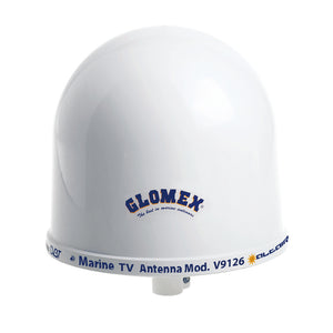 "Glomex 10"" Dome TV Antenna w-Auto Gain Control & Mount"