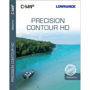 Lowrance C-MAP Precision Contour HD Chart f-Alabama