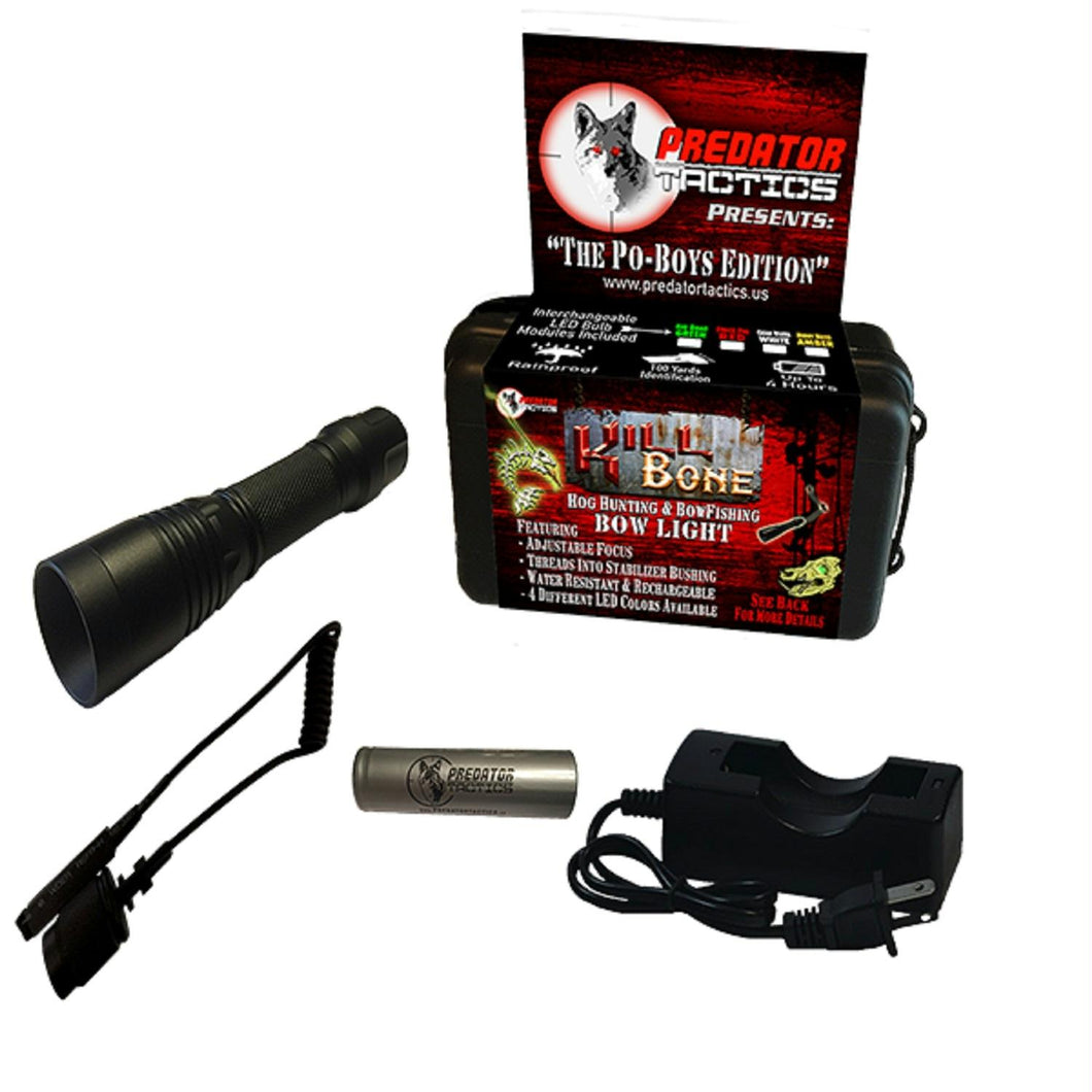 Predator Tactics KillBone Po-Boys 4 LED Light Gn-Am-Rd-Wt