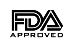 FDA approved trust badge that shows 100% safety.