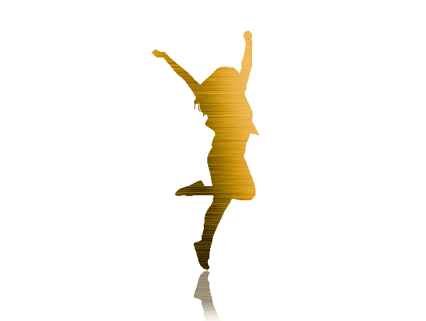 women golden silhouette
