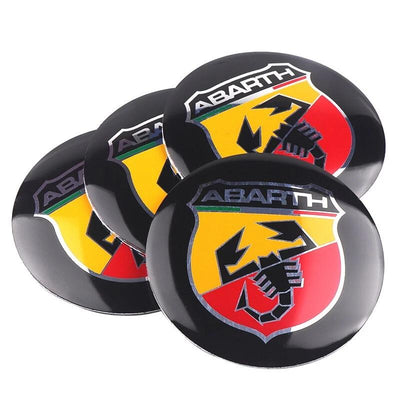 Stickers cache moyeu abarth