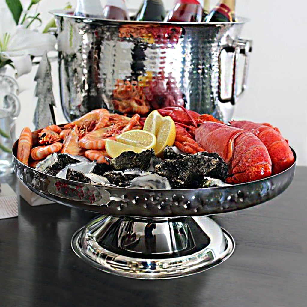 Large Hammered Cake/Fruit Stand