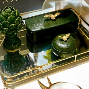 Rectangle Olive Green Bee Box