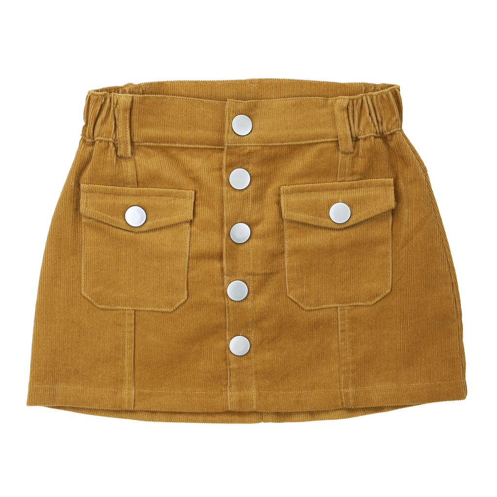 Sunset Cordury Skirt Mustard