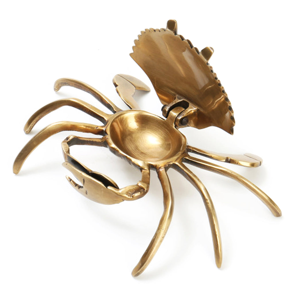 Vintage Brass Crab w Secret Hollow