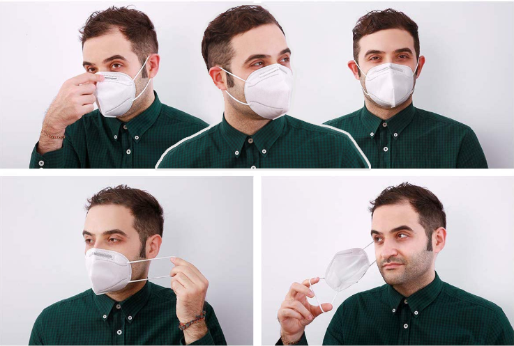 KN95 Particulate Respirator Dust Masks - Anti-Dust, Smoke, Gas, Allergies & Germs and Personal Protective Equipment