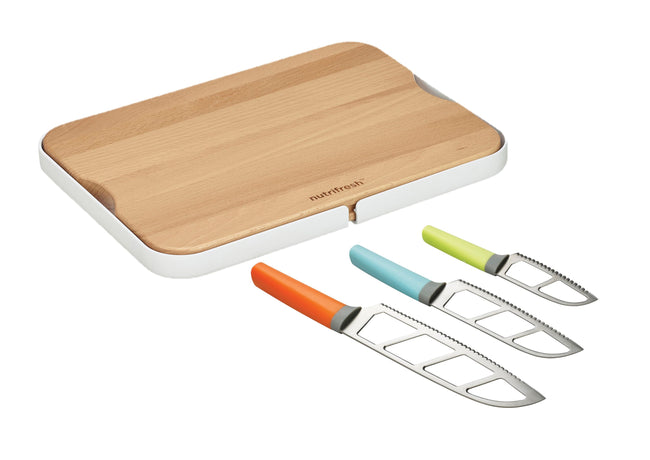 Nutrifresh Prep 4 Piece Knife and Chopping Station Set