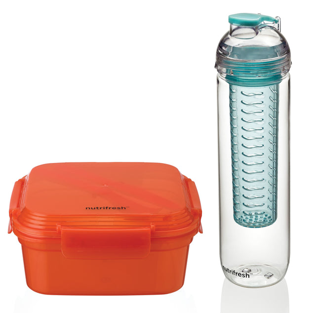 Nutrifresh To Go Lunch Set - Lunch Box & Infusion Bottle