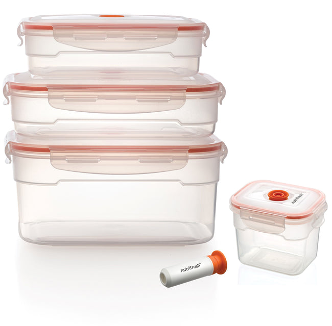Nutrifresh To Go Vacuum Container Set with Pump