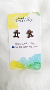 White and walnut gingerbread man Studs