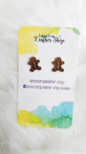 Gold gingerbread man Studs
