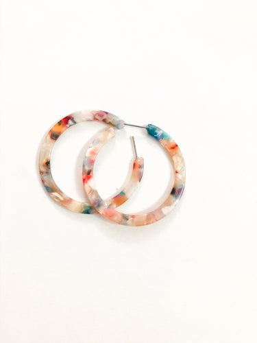 Spring Tortise Shell Hoops