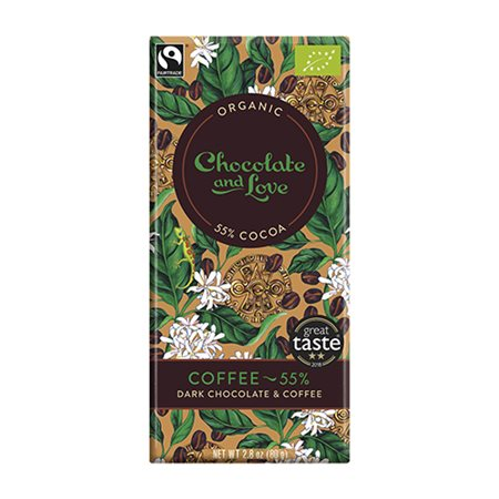Chokolate and Love • Chokolade Coffee 55 % - 80 g