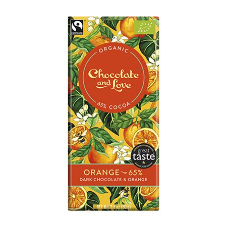 Chokolate and Love • Chokolade Orange 65 % - 80 g