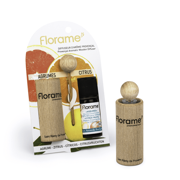 Florame • Provencal Wooden Diffuserer - Citrus Fruits