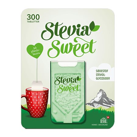 Hermes Switzerland • Stevia Sweet Hermesetas - 300 tabletter