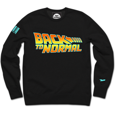 Back to Normal Crewneck (BLK)