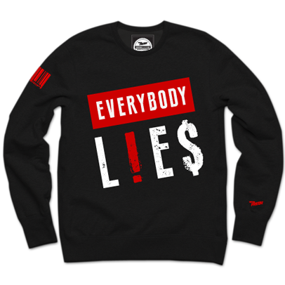 Everybody L!E$ Blackberry Crewneck