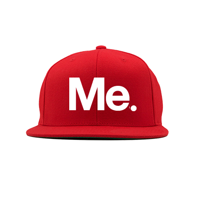 Me. Snapback Hat (Red)