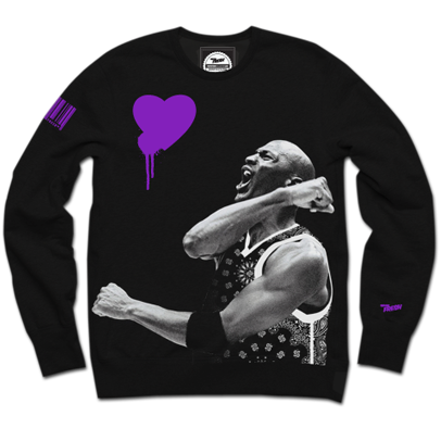 Purple Hearted Crewneck