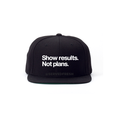 Show Results Snapback Hat