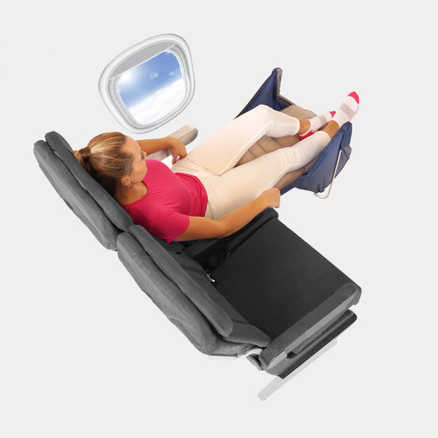 My Flight Hammock for extra legroom and premium economy