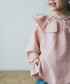 Ruffle-colored blouse