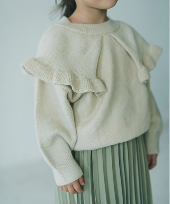 Pullover knit sweater with cape
