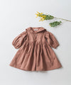 [New] Pure Cotton Sailor Collar Gathered Dress