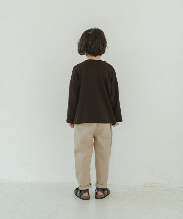【New Work】Tacked Design Long T-Shirt