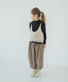 【New】Mock neck top with knit bustier