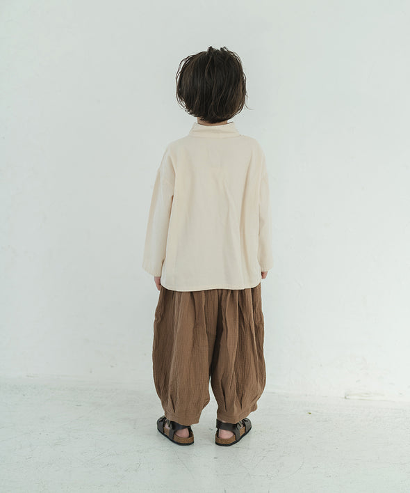 【New work】 Stand color Zill relax shirt
