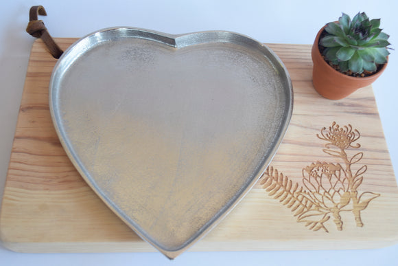 Heart Shaped Metal Plate