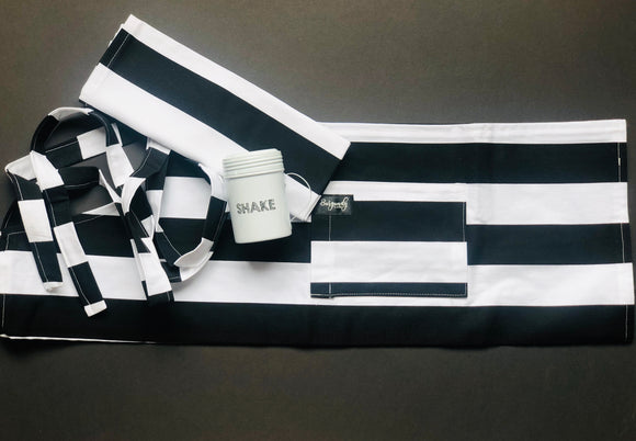 Black & White Apron & Tea Towel