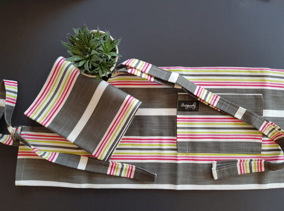 Candy Stripe Apron & Tea Towel
