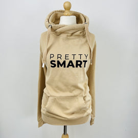 PRETTY SMART HOODIE ADULTS  in NUDE/NAVY