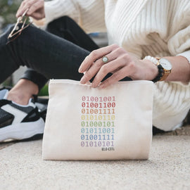 ORGANIC ACCESSORY BAG - LOVE YOU IN CODE