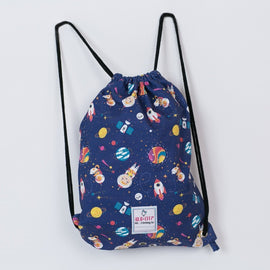 Drawstring Bag Space Pattern