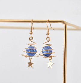blue planet earrings