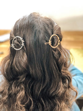 Dazzling Orbit Hair Pins
