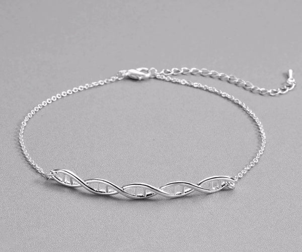 DNA helix Bracelet - Silver Plated