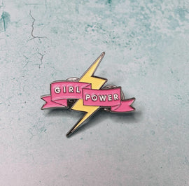 GIRL POWER Feminist pin