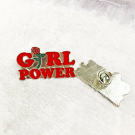 Girl Power Flower Feminist pin