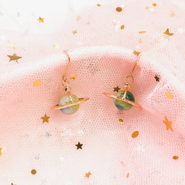 Interstellar Treasure - Gold Plated Earrings