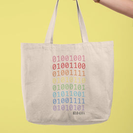 TOTE BAG - LOVE YOU IN CODE